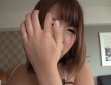 Alluring Japanese hottie with shaved pussy enjoys fucking from behind picture 15