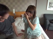 Alluring Japanese hottie with shaved pussy enjoys fucking from behind