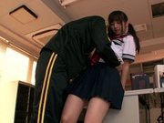 Pigtailed schoolgirl Rimu Sasahara gets fucked by her horny coach