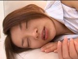 Mai Uzuki Hot Asian model in lingerie gives a sexy blowjob picture 15