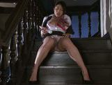 Japanese model Reo Sainoji gets nasty in solo session picture 14