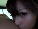 Amateur pussy licking with Asian milf Haruki Satou picture 15