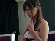 Amateur pussy licking with Asian milf Haruki Satou