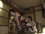 Gorgeous Yuna Hasegawa In Black Stockings Rammed Hard