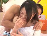 Small tits of Remon Aisu get exposed in close up picture 12