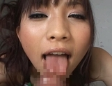 Akari Satsuki Lovely Japanese chick who enjoys giving blowjobs