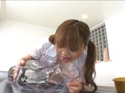 Yuri Haruna is a hot Asiam maid who likes getting her pussy drilled hard