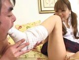 Japanese AV model is a chubby chick who gives an amazing blowjob picture 10