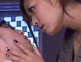 Horny asian Satou Haruki gets nasty at work picture 15