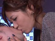 Horny asian Satou Haruki gets nasty at work