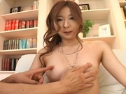 Nana Otone Asian model gets her pussy spread wide