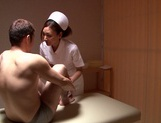 Hand work skills of Asian nurse Mio Kuraki exposed