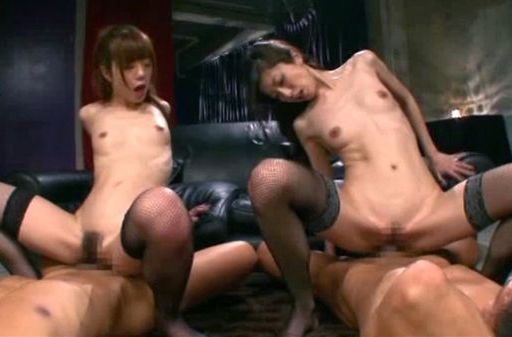 Steaming bombshells Nao and Ren Aizwa in nasty gangbang