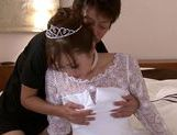 Sexy chick Yuna Mizumoto in wedding dress loving doggysytle picture 10