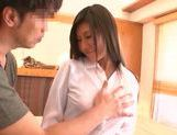 Busty japanese model enjoys the full thing picture 13