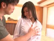Busty japanese model enjoys the full thing