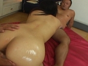 Megumi Haruka Hot Asian model sucks a cock and gets fucked