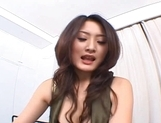 Japanese AV model is hot for a fucking