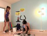 Sexy chick Ria Horisaki nice teen hand work cumshot action picture 8