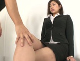 Yuna Shiratori enjoying a hot fuck at the office picture 3
