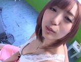 Yuu Namiki loving cock sucking action with cum in mouth picture 2