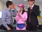Kinky Japanese teen Aino Kishi begs for double penetration picture 11