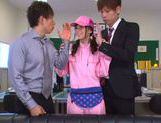 Kinky Japanese teen Aino Kishi begs for double penetration picture 12