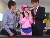 Kinky Japanese teen Aino Kishi begs for double penetration picture 13