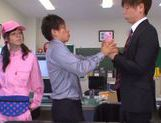 Kinky Japanese teen Aino Kishi begs for double penetration picture 6