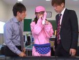 Kinky Japanese teen Aino Kishi begs for double penetration picture 9