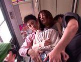 Kaede Matsushima enjoying a nasty threesome on a bus picture 12