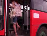 Kaede Matsushima enjoying a nasty threesome on a bus picture 1