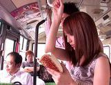 Kaede Matsushima enjoying a nasty threesome on a bus