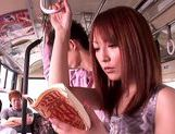 Kaede Matsushima enjoying a nasty threesome on a bus picture 4
