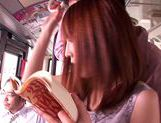 Kaede Matsushima enjoying a nasty threesome on a bus picture 6