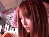 Kaede Matsushima enjoying a nasty threesome on a bus picture 7