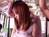 Kaede Matsushima enjoying a nasty threesome on a bus picture 8