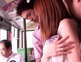 Kaede Matsushima enjoying a nasty threesome on a bus picture 9