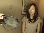 Big-tittied Japanese Av model Julia enjoys pussy banging