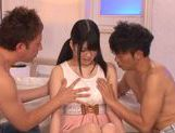 Big tittied Asian babe Aoi Naguse gets pounded by horny guys picture 4