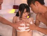 Big tittied Asian babe Aoi Naguse gets pounded by horny guys picture 9