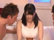 Big tittied Asian babe Aoi Naguse gets pounded by horny guys