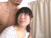 Wild Japanese model enjoys deep fucking her cunt