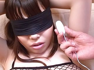 Enjoy sexy fishnet pantyhose of Rion Nishikawa