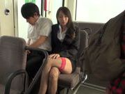 Claire Hasumi hot Asian chick enjoys caressing others