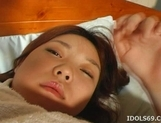 Japanese AV model gets fucked and has cum on her tits