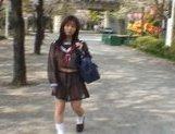 Mikan Amazing Asian schoolgirl enjoys her flashing fun picture 11