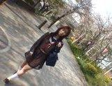 Mikan Amazing Asian schoolgirl enjoys her flashing fun picture 12