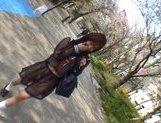 Mikan Amazing Asian schoolgirl enjoys her flashing fun picture 13