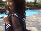 Mikan Amazing Asian schoolgirl enjoys her flashing fun picture 14